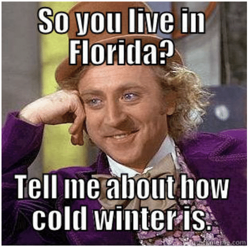 how cold is it in Florida
