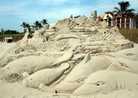 shark sandcastle